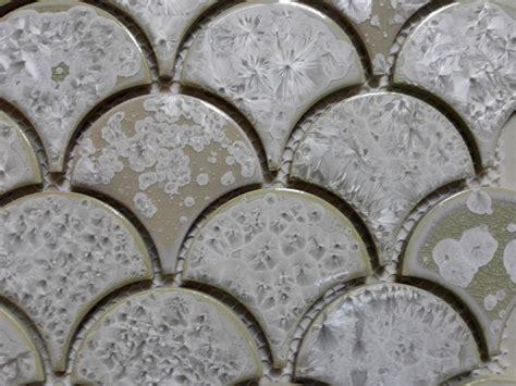 pcs white fish scale ceramic mosaic tile kitchen