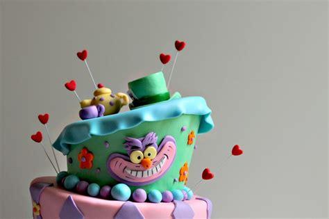 erins alice  wonderland birthday cake  couture cakery