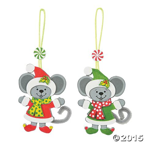 christmas mice ornament craft kit 12 pk party supplies