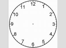 clock face with minutes printable clipart – Learning Printable