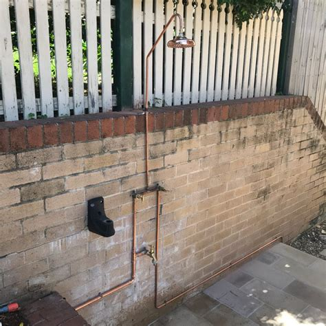 Cmf Install Outdoor Shower At Cremorne  Cmf Plumbing And