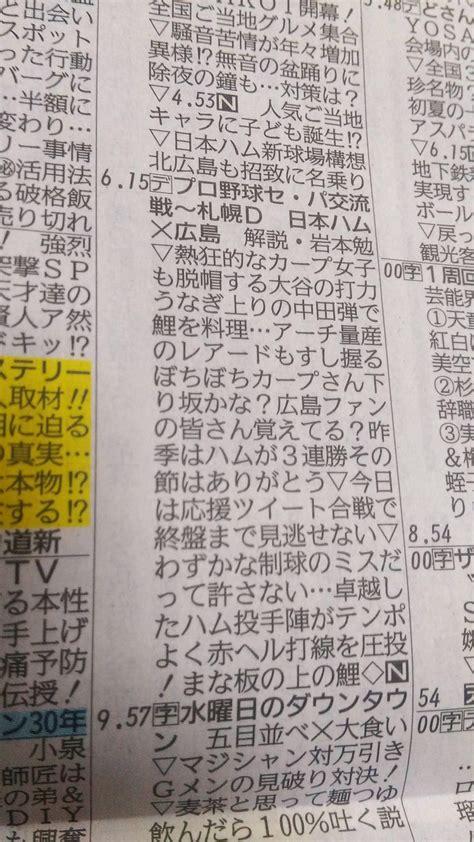 広島 テレビ 欄
