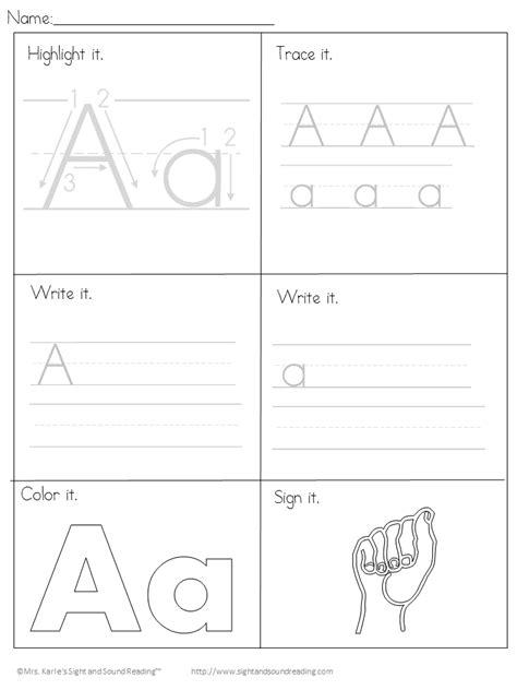 printable handwriting worksheets  kids easy