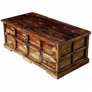 Beaufort steamer storage trunk rustic coffee table chest for Coffee table storage chests trunks