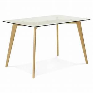 Table A Manger Rectangulaire : table manger style scandinave rectangulaire varin en verre ~ Teatrodelosmanantiales.com Idées de Décoration