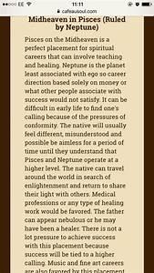 Horoscope Moon Chart Pisces Midheaven Mc Father Was Defo Nebulous