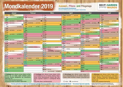 mondkalender garten 2017 pdf doit mondkalender 2019 de by migros issuu