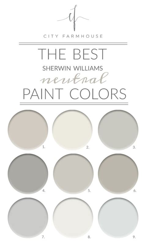 the best sherwin williams neutral paint colors my city