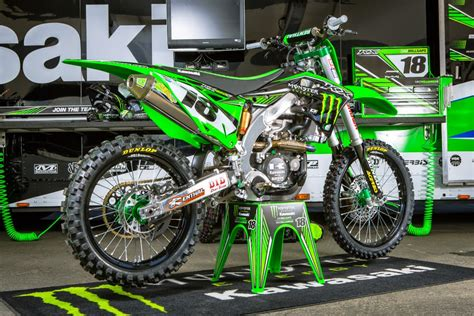 racing motocross bikes kawasaki kx 450f team monster energy kawasaki supercross