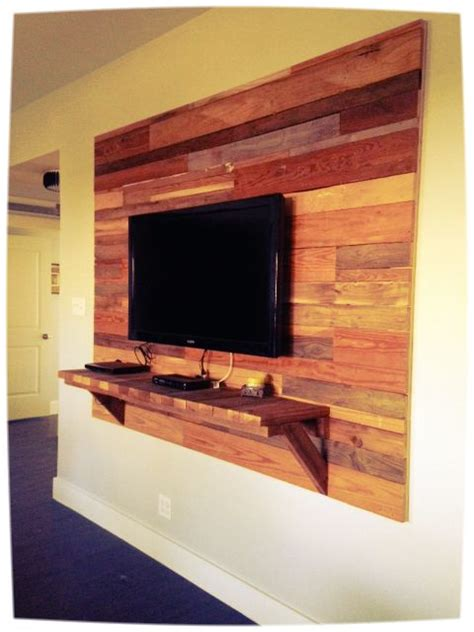 Tv Wand Holz by Reclaimed Wood Accent Wall Mounted Tv Www