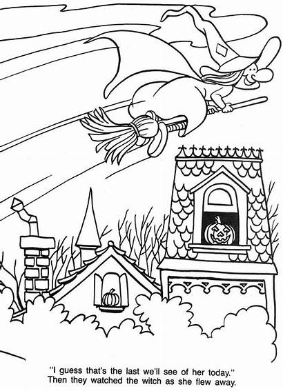 Halloween Coloring Treat Travessuras Witch Flying Gostosuras