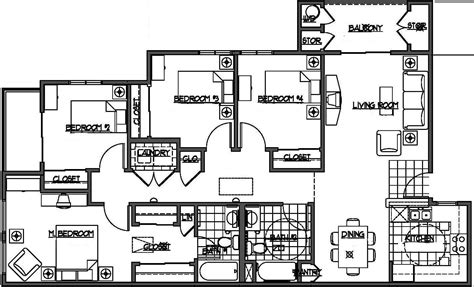 bedroom house plans kelseybash ranch