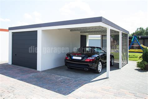 Carport Garage Kombination by Die Garagen Carport Profis Kombinationen Garage Carport
