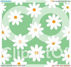 Clipart of a Seamless Background Pattern of White Daisy ...