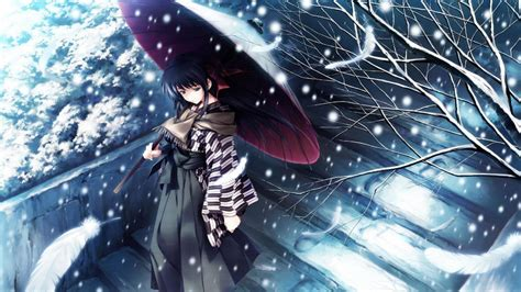 winter anime wallpapers wallpaper cave