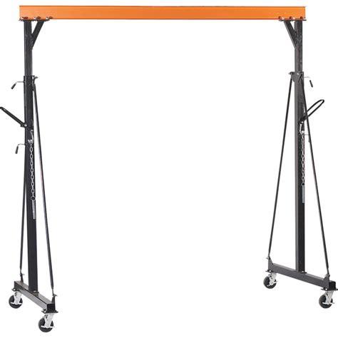 northern industrial adjustable gantry crane 2 000 lb capacity gantry cranes northern tool