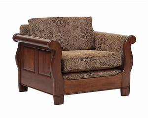 Sleigh Sofa Chair with Single Back Cushion - Gish's Amish