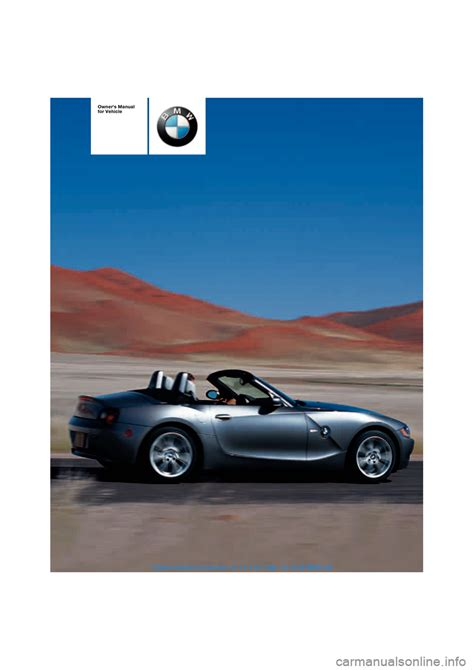car repair manual download 2004 bmw z4 instrument cluster bmw z4 roadster 2 5i 2004 e85 owner s manual