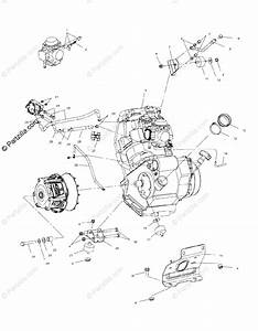 Polaris Atv 2002 Oem Parts Diagram For Engine Mounting   Ab  Ac  Fb