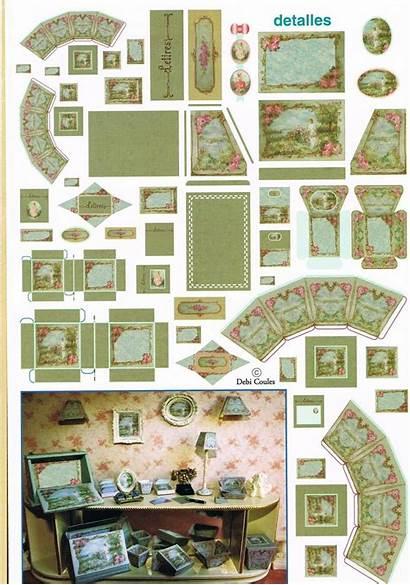 Dollhouse Printable Furniture Patterns Miniature Printables Doll