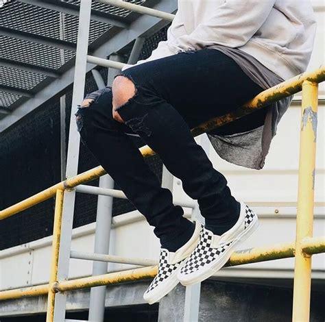 ways wear vans checkerboard sneakers