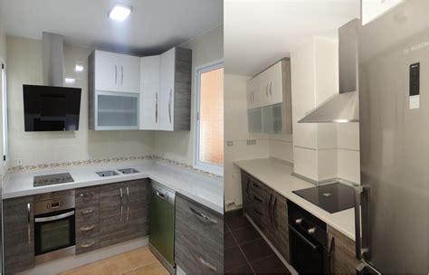 dos cocinas modelo loira gris  blanco cocinas jaen