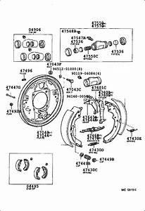 Toyota 4runner Drum Brake Adjuster  Left  Right  Rear