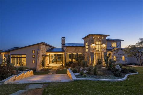 stretched   ridge  austins spanish oaks  contemporary hill country home