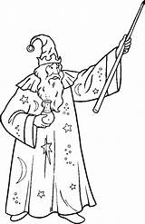 Wizard Coloring Pages Printable Adult Getcoloringpages Witches Magician sketch template