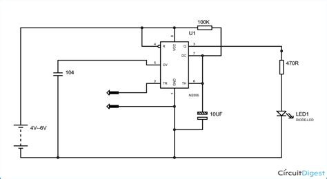 Simple Touch Switch Circuit Diagram Using Timer