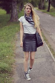 Leather Skirt Fashion Blog