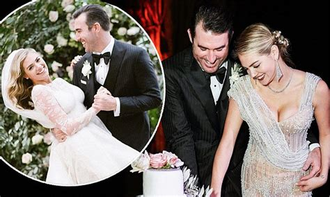 Kate Upton Unveils Lingerie-baring Evening Ensemble At Her Wedding