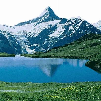 Giphy Mountain Lake Sticker Gifs Tweet
