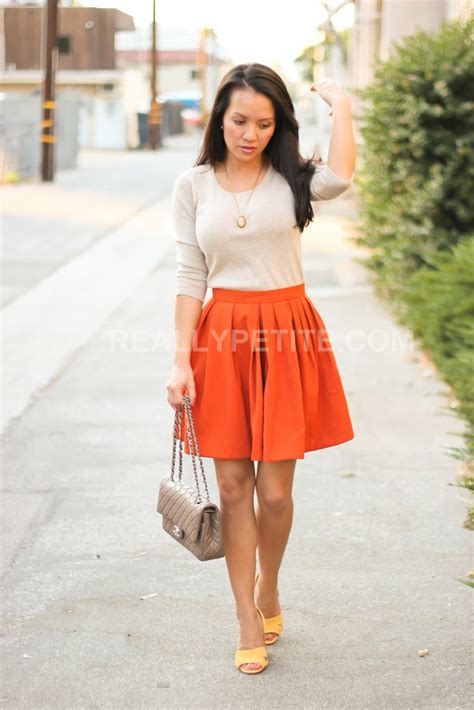 Stylish Petite | Fashion Lifestyle Travel and Home Decor Site Lookbook H u0026 M burnt orange skirt