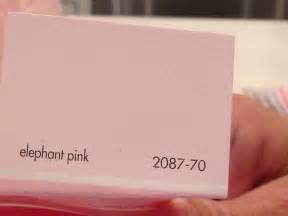 Elephant Pink Benjamin Moore Nursery Ideas Pinterest