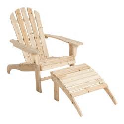 stonegate designs wooden adirondack chair with ottoman