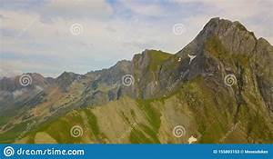 Drone, Aerial, View, Of, Huge, Mountain, Scenery, During, Summer