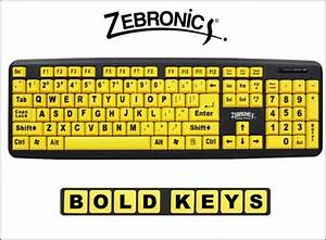 from zebronicsa a bright yellow keyboard with large lettering With big letter keyboards computer