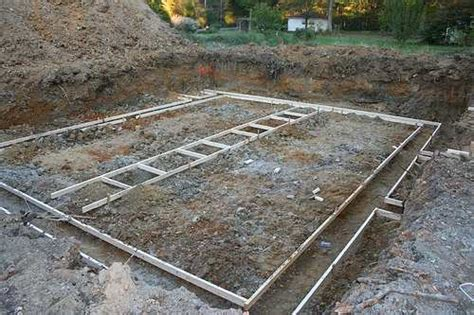 How To Lay Decking On Soil by How To Build A Concrete Foundation Raftertales Home