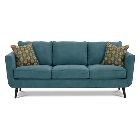 teal settee rowe duncan sofa teal at hayneedle