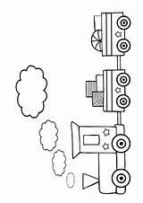 Train Coloring Colouring Printable Track Sheets Coloriage Colour Templates Tracks Transporte Template Books Meios Dibujos Colorear Enfant Desenhos Colorier Pintar sketch template