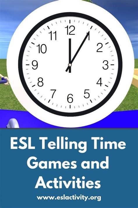 telling time activities games worksheets   esl