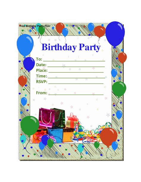 Free Birthday Invitations Printables