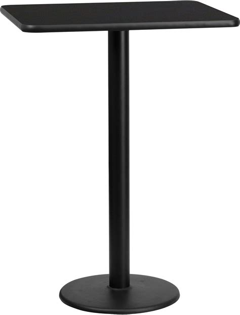 30 round counter height table 30 quot rectangular black laminate table top with 18 quot round