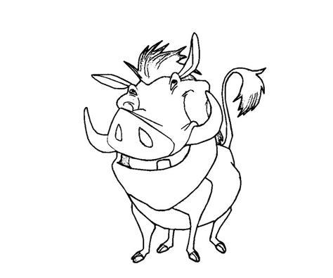 Kleurplaat Pumba by Warthog Pumba Coloring Page Coloring Pages
