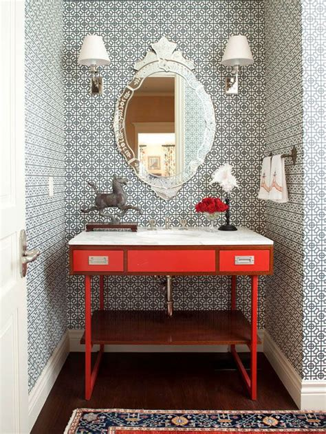 Kitchen Interior Decorating Ideas - wallpaper for the powder room the inspired room