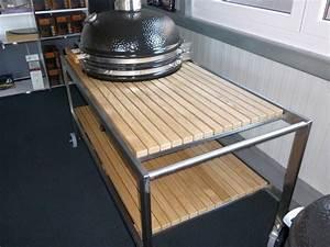 Pizzastein Selber Machen : premium tisch monolith lechef mit edelstahlgestell und eichenholzbeplankung grillkontor ~ Watch28wear.com Haus und Dekorationen