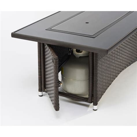 To feel a little exceptional, just enter your outdoor space, where in the evening you can quickly and easily ignite the fire. The Outdoor GreatRoom Company Montego Crystal Fire Pit Coffee Table with Wicker Base & Reviews ...