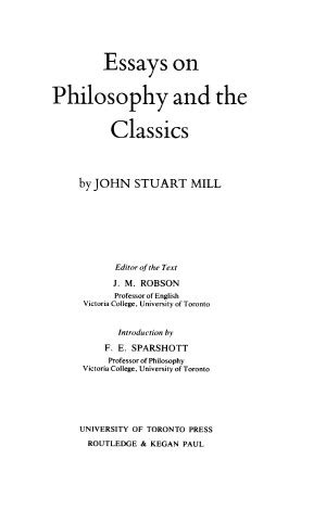 collected works  john stuart mill volume xi
