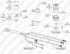 Led Light Wiring Harness With Switch And Relay